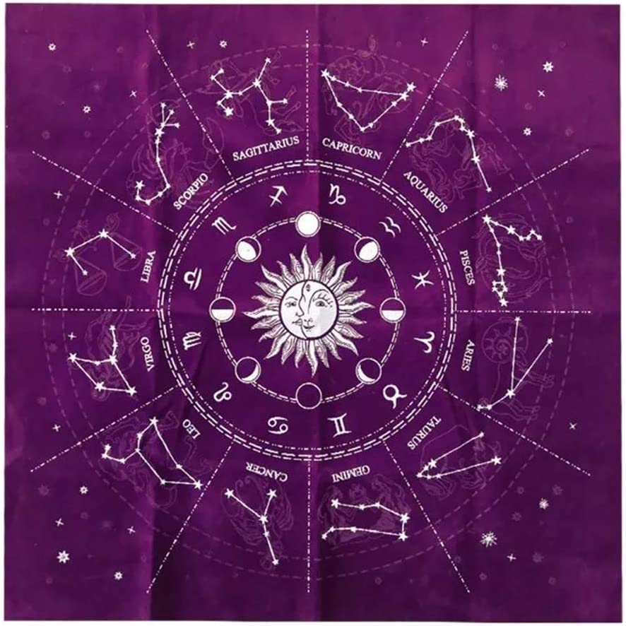 ZEXIN 12 Constellations Fortune Divination Cloth Card Max 46% OFF Game Fashionable Altar