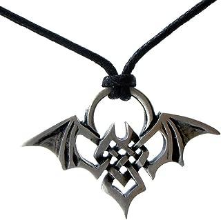 OhDeal4U Tribal Celt Celtic Knot Bat Totem Pewter Pendant Charm Amulet Necklace Choker