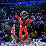QINGCHU Animación subacuática paisaje, búsqueda del tesoro, caza, buceo, decoración de acuario neumática.