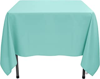 Remedios Square Tablecloth Solid Color Wrinkle-Free Polyester Table Cloth for Indoor and Outdoor Wedding Party Restaurant Banquet Home Dinner (Turquoise, 85x85 inch)