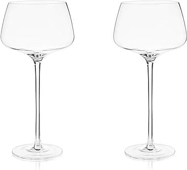 Viski Amaro Spritz Glasses Spritz Glasses, Clear, 9428TBV