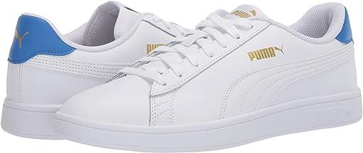 Puma White/Palace Blue/Puma Team Gold