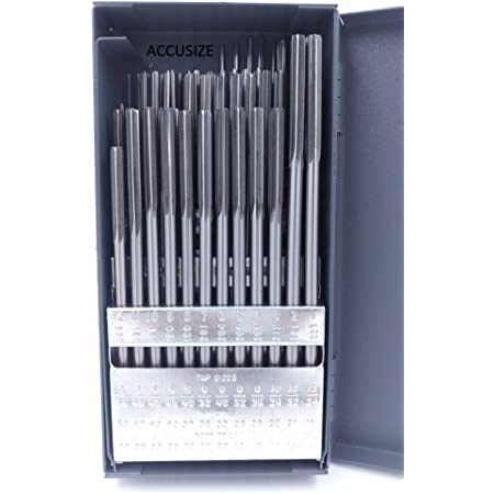 "29 PIECE CHUCKING REAMER SET HSS 1//16/"" TO 1//2/"" BY 64TH NEW"