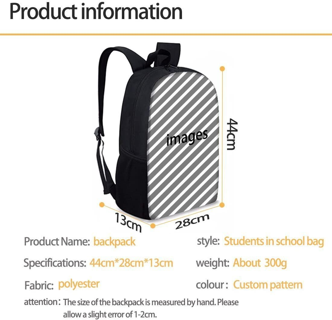 Fashion Football Print Boys Girls School Backpack Bookbag Lunchbox Pencil Bag 3 Pieces Set