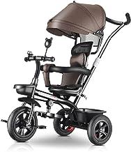 Carritos y sillas de Paseo Cochecito 4-en-1, Toldo Ajustable Cinturón de Seguridad Pedal Plegable Bolsa de Almacenamiento Freno Diseño de absorción de Choque Bebé Sillas de Paseo