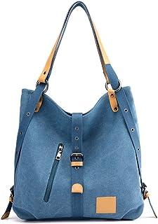 FTSUCQ Womens/Big Girls Canvas Vintage Shoulder Bag Travel Daypack Tote School Bags Shoulder Satchels
