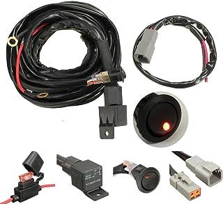 Qii lu Switch 22mm Spotlights Interruttore manubrio per moto Pulsante di accensione in acciaio inossidabile a singola striscia