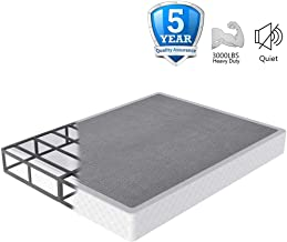 NOAH MEGATRON 7 Inch Box Spring Queen, Low Profile Metal Boxsprings/Mattress Foundation/Bunkie Board - 3000LBS Strong Steel Structure/Easy Assembly (Queen)