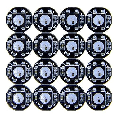 CHINLY 100 stücke WS2812B Adressierbare 5050 smart RGB LED Pixel licht auf Schwarz Kühlkörper PCB Board für Arduino 5 V DC