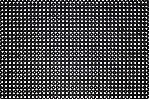 ID Mat Caillebotis Caoutchouc, 100%, Noir, 150 x 100 x 2,3 cm