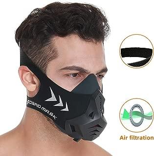 FDBRO スポーツマスクPRO フィットネス ランニング カーディオ 通気抵抗 異なる高度の空気条件シミュレーション Workout Training Mask 耐久トレーニング用マスク
