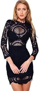 Vestidos De Fiesta Sexys Cortos Ropa De Moda para Mujer y Noche Elegante Casuales De Encaje Blancos Negros VE0063