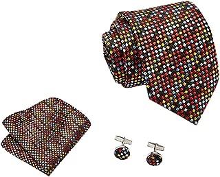 BALABA◕。Men's Business Tie Set Multi-Color Gift Box Tie Suit Fashion Necktie Set Classic Necktie Paisley Tie + Gift Box