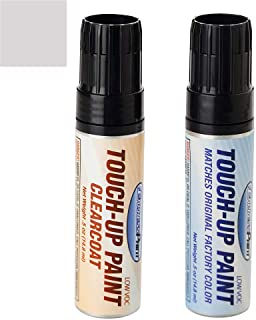 ExpressPaint Half-Ounce Jar - Automotive Touch-up Paint for Ford F-150 - Ingot Silver Metallic UX - Color + Clearcoat Package