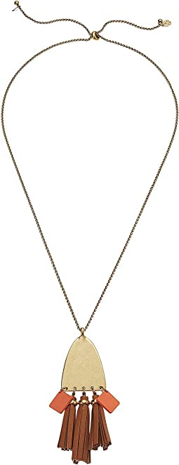 Lucky Brand - Leather Pendant Necklace