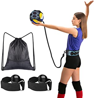 Tomight Volleyball Serving Training Equipment Aid Single Practice for Arm Swing Serve Trainer Beginners with Carry Bag Hand Resistance Bands