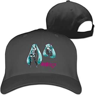 BODAP Hatsune Miku Figure Logo Adjustable Baseball Hat