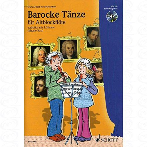 BAROCKE TAENZE - arrangiert für Altblockflöte - (für ein bis zwei Instrumente) - mit CD [Noten/Sheetmusic]