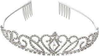 PIXNOR Wedding Tiara nuziale strass Corona Hairband con pettine piccolo (scheggia)