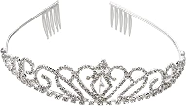 Ever Faith Cristal Autrichien /él/égant Artificiel Pearl Art D/éco de Mariage Bandeau Cheveux Cheveux Diad/ème Clair Argent/é