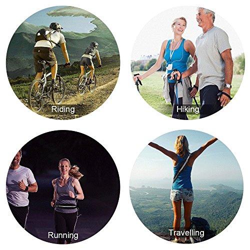 AGPTEK Cinturón para Correr, Riñonera Deportiva con Bandas Reflectantes y Cierre Cremallera, Cinturón Running Impermeable para Deportes o Viaje al Aire Libre, Negro