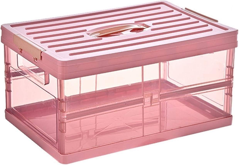 KUYUC Collapsible Storage Max 61% OFF Bins Regular dealer Foldable Transparent Plastic Sto