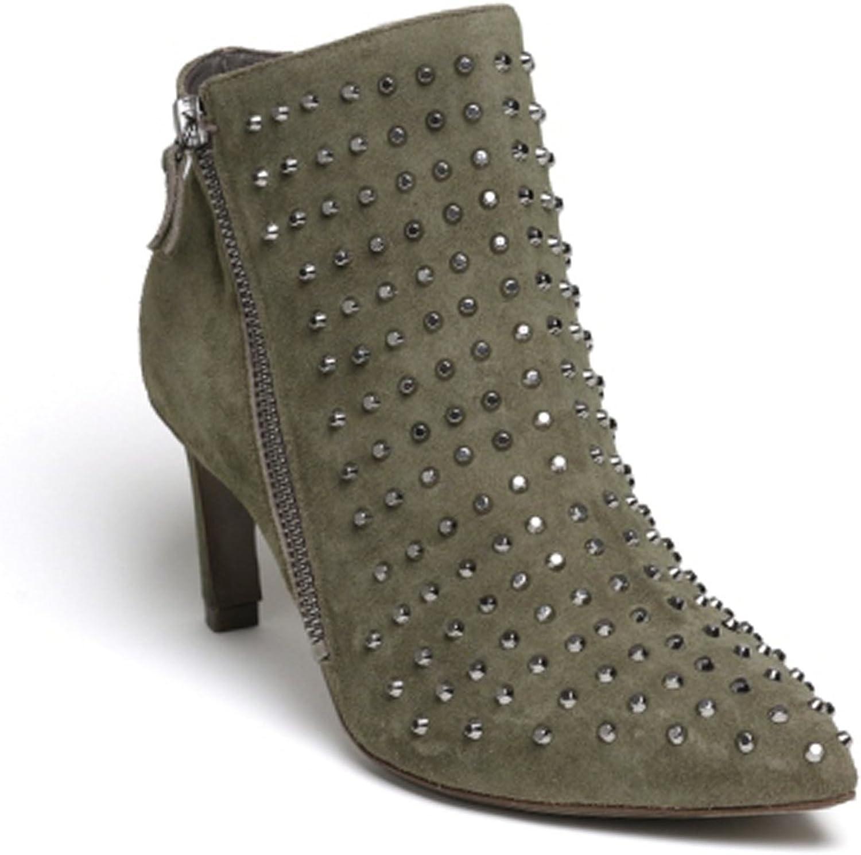 Vic Matié Women's Khaki Suede Leather Ankle Boots - Booties shoes - Size  9.5 US