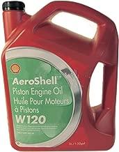 AeroShell Oil W120 SAE Grade 60 Ashless Dispersant Aircraft Oil - 5 Liter Jug