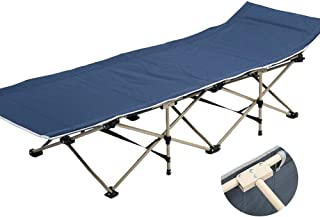 Recliner Chair Outdoor Adults Folding Camping Bed Portable for Heavy People, Sun Lounger with Carry Bag for Camping Home Office, Support 200kg,B