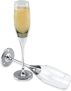 Jewelry Adviser Gifts Pair Glitter Galore Toasting Flutes