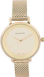 Giordano Analog Yellow Dial Women's Watch-F2089-22