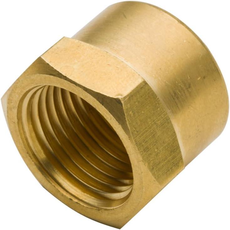 Hex Head Pack of 5 Vis NPT Cap Brass Pipe Fitting 1//4 Female