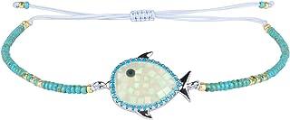 KELITCH Miyuki Beads Charm Bracelet Pulsera de la Amistad Nuevas Pulseras de Brazalete de Flores Ajustables