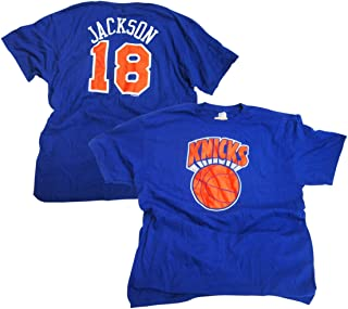 Majestic Phil Jackson New York Knicks Blue Throwback Jersey Name and Number T-Shirt