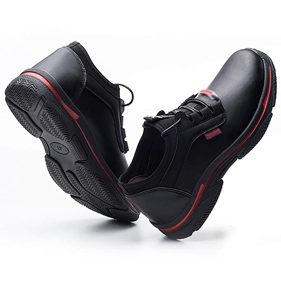 多分アンペアフィット安全靴?作業靴 ウォーキングシューズ完全防水アウトドアハイキング/トレッキングクライミングシューズアプローチシューズ軽量通気性トレイルランニングトレーナー (色 : 黒, サイズ さいず : 40)