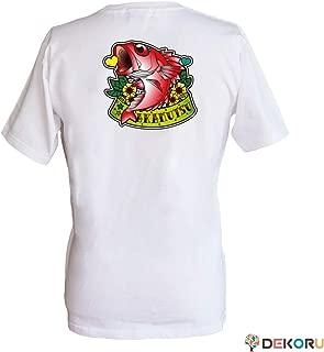 フィッシングTシャツ GYOTTOO アカムツ バックプリント 白