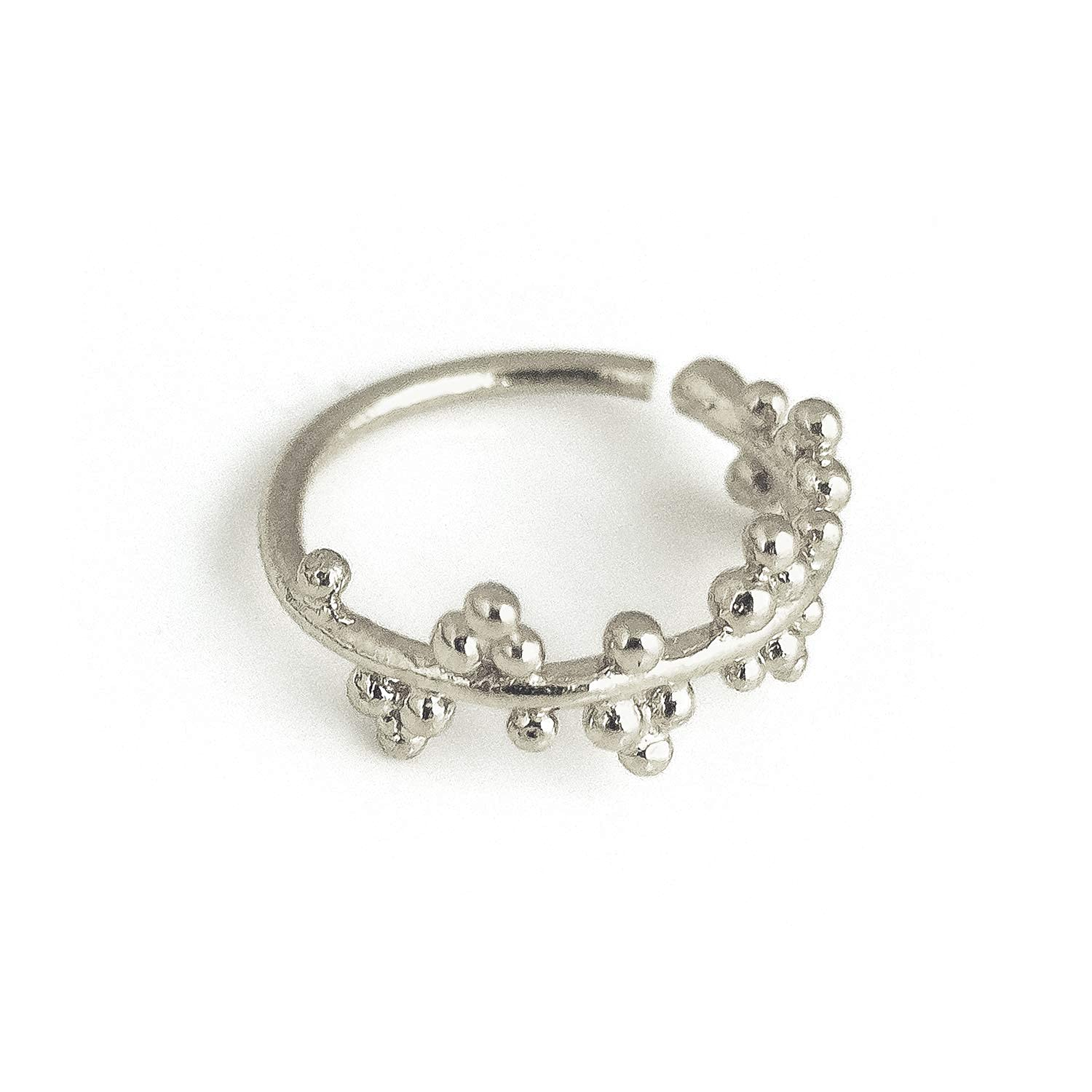 Unique Nose Ring Sterling Silver Albuquerque Mall Piercing Tri Indian Hoop New popularity