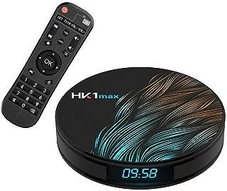 HK1 Max Android 10.0 TV Box 4GB RAM 64GB ROM BT 4.1 RK3318 يدعم واي فاي المزدوج 2.4GHz/5GHz Android TV Box Full HD 4K يدعم...