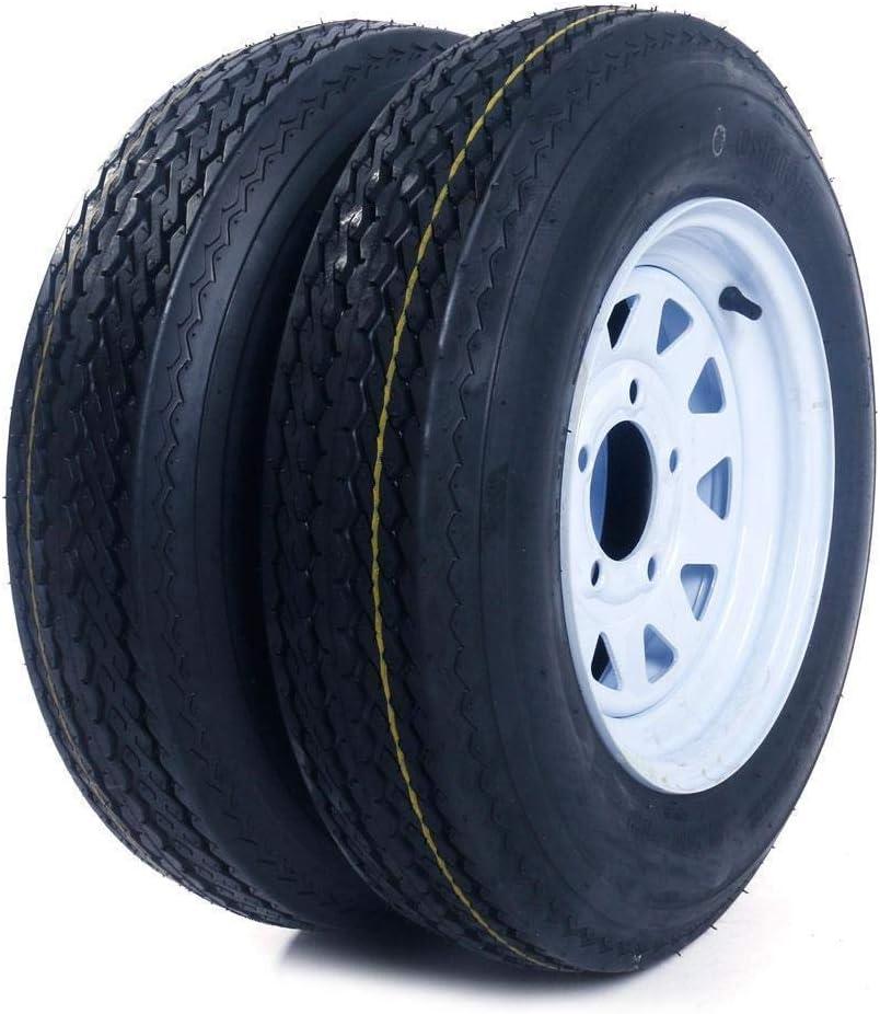 Parts-Diyer 5.30x12 Trailer Tires Ranking TOP18 and Rims Philadelphia Mall on Tubeless 5 4.5 Lug