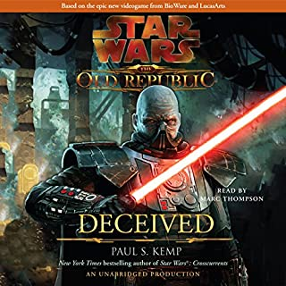 Star Wars: The Old Republic: Deceived                   Auteur(s):                                                                                                                                 Paul S. Kemp                               Narrateur(s):                                                                                                                                 Marc Thompson                      Durée: 9 h et 25 min     53 évaluations     Au global 4,6