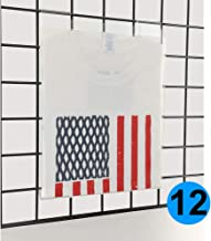 EZ-Mannequins Gridwall Acrylic T-Shirt Display - Pack of 12 - Retail Display Holding Frame - White Plastic Folding Board Insert