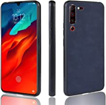 CHENCHUAN Case Cover Shockproof Sheep Skin PC + PU + TPU Case for Lenovo Z6 Pro(Black) Mobile Phone Shell (Color : Blue)
