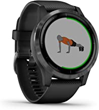 Garmin Vívoactive 4 Waterdichte GPS-Fitnesssmartwatch, met Trainingsplannen En Geanimeerde Oefeningen, Hartslagmeting, Gri...