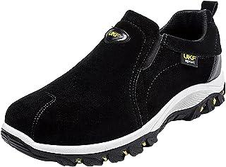 wealsex Scarpe da Trekking Uomo Arrampicata Sportive All'aperto Escursionismo Niente Lacci Sneakers