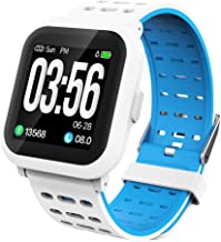 AKASO Fitness Tracker Watch with Large Sensitive Touch Screen Activity Tracker with Heart Rate Monitor, IP67 Waterproof Smart Watch with Sleep Monitor, Calorie Counter, Pedometer Watch NEON 1