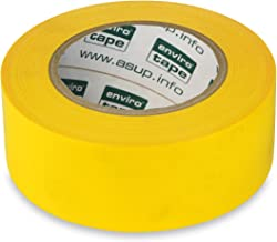 ASUP Tape PREMIUM - Weefseltape - 48 mm x 50 m - geel | voor binnen- en buitengebruik | voor gladde en ruwe oppervlakken |...