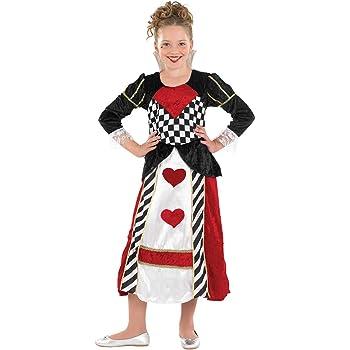Smiffys - Disfraz señorita corazón, para niños, Color Rojo ...