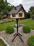 Vogelhaus & Ständer Gartendekoration Futterhaus Vogelhäuschen aus Holz absoluter Blickfang NEUGross