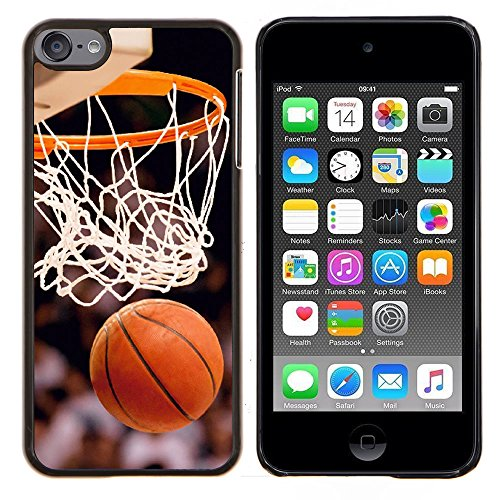 Graphic4You Basketball Sports Doughnut Thin Slim Rigid Hard Case Cover for Apple iPod Touch 6