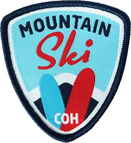 2 x Ski Abzeichen gewebt 55 x 60 mm blau /...
